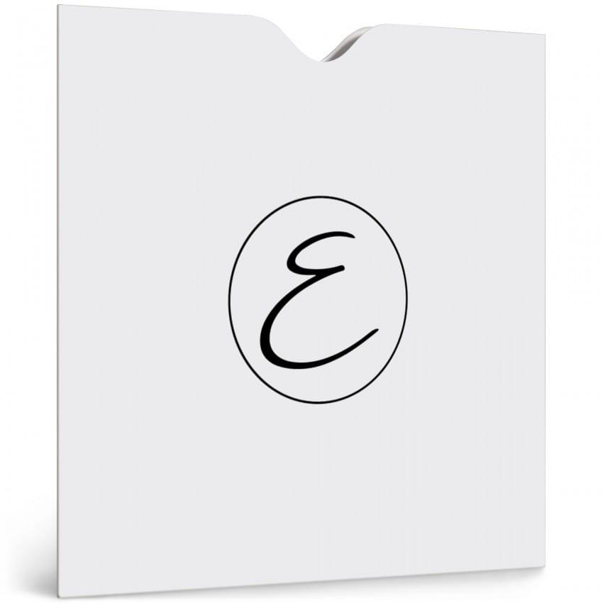 papier blanc 350g satiné - Impression noire