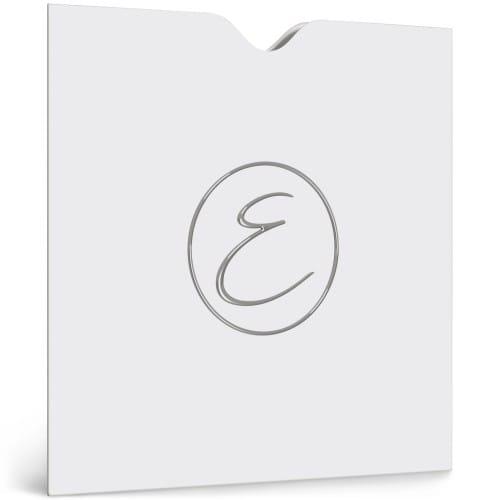 papier blanc 350g satiné  - Impression avec Dorure Argent