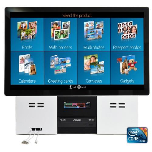 "DiLand - Borne (sans imprimante) 23"" - logiciel kiosk intégré (KDL) - Processeur Intel Pentium i5 - conseillé pour NORITSU / EPSON / DNP / FUJI / MITSU"
