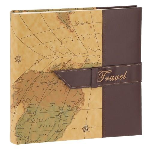 TRAVEL 2 - 100 pages blanches traditionnelles + feuillets cristal - 400 photos - Couverture Chocolat 30,5x30,5cm