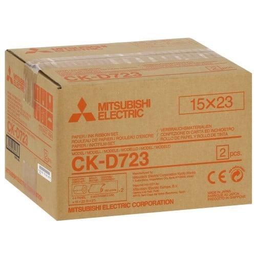 MITSUBISHI - Consommable thermique CK-D723 pour CP-D70DW-S / CP-D707DW-S / CP-D90DW-P - 360 tirages 15x23cm