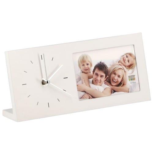 DEKNUDT - Cadre photo S66RT1 horloge photo blanc - bois