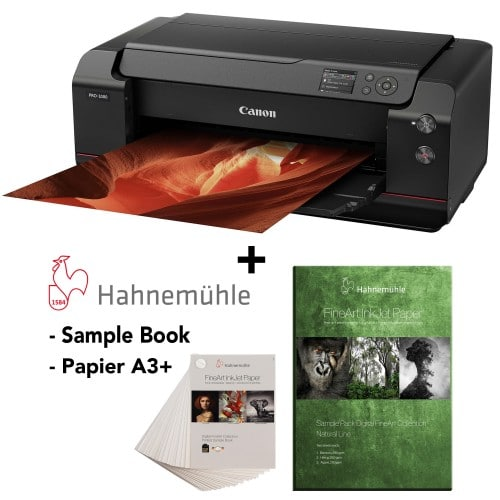 CANON - Imprimante grand format - Pack Prograf PRO 1000 + Sample book FineArt + Sample Pack FineArt Natural Line A3+ Hahnemühle