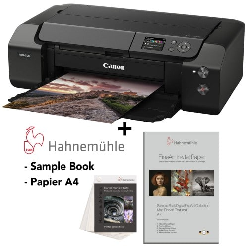 CANON - Imprimante grand format Pack Prograf PRO 300 + Sample book Photo + Sample Pack FineArt Matt Textured A4 Hahnemühle