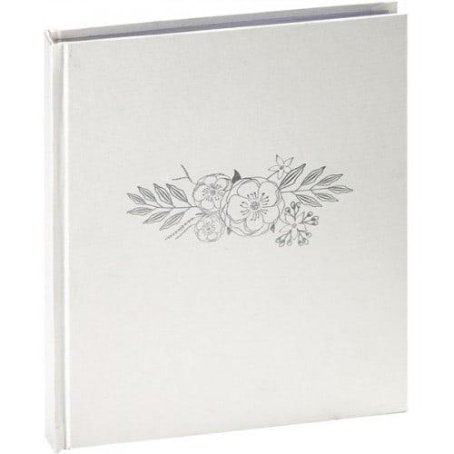 Livre d'argent PANODIA série WEDDING 21x25cm 130 pages blanches Tranche argenté Couverture en vinyl irisé Marquage contemporain