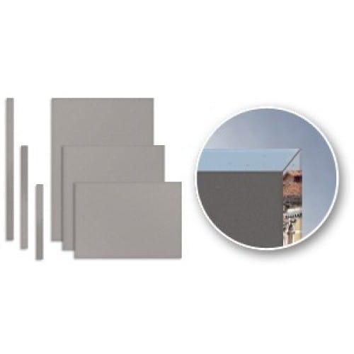 Accessoire fabrication couverture FASTBIND Casematic - Carton gris - Lot de 50 paires de pages - 304,8 x 304,8mm + 50 cartons po