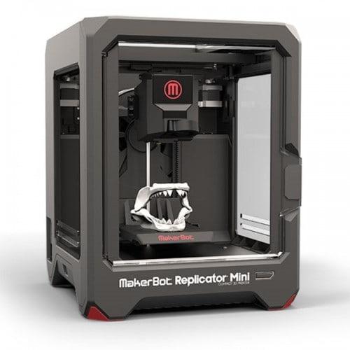 Imprimante 3D MAKERBOT Replicator Mini/taille maxi de l'impression: 100x100x125mm/résolution: 200 microns/matériaux PLA MakerBot