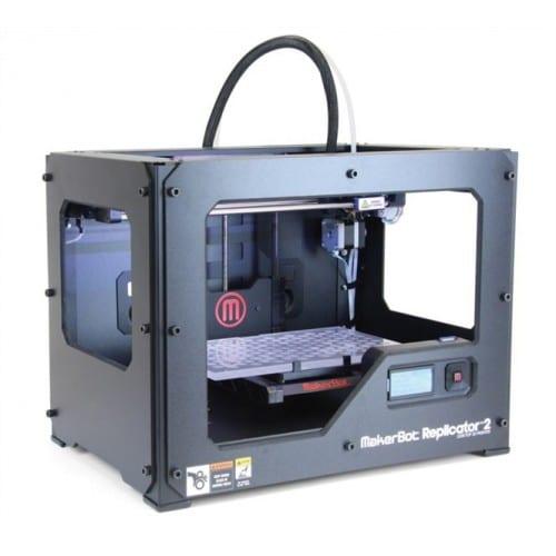 Imprimante 3D MAKERBOT Replicator 2/taille maxi de l'impression: 285x153x155mm/résolution: 100 microns/matériaux: PLA MakerBot c