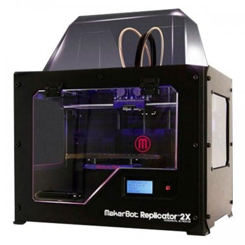 Imprimante 3D MAKERBOT Replicator 2X/taille maxi impress: 246x152x155mm/résolution: 100 microns/plateau anodisé chauffé/ ABS - f