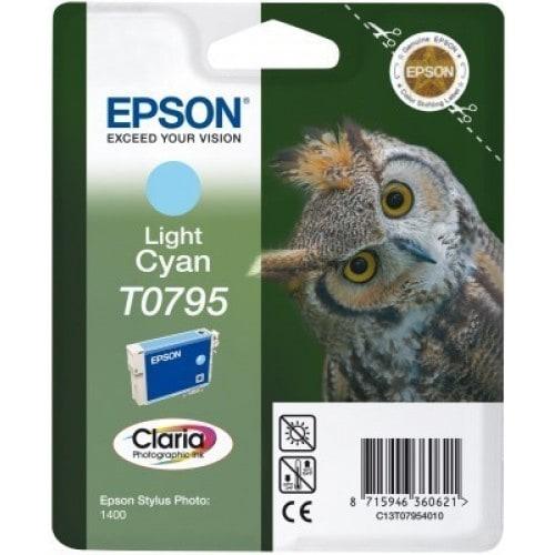 Cartouche d'encre EPSON T0795 Chouette - Cyan clair