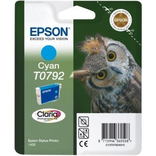 Cartouche d'encre EPSON T0792 Chouette - Cyan
