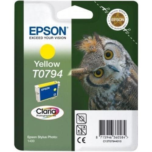 Cartouche d'encre EPSON T0794 Chouette - Jaune