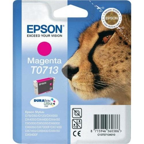 Cartouche d'encre EPSON T0713 Guépard - Magenta