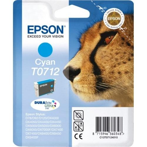 Cartouche d'encre EPSON T0712 Guépard - Cyan