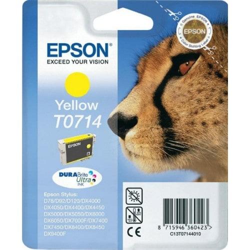 Cartouche d'encre EPSON T0714 Guépard - Jaune