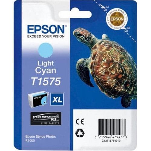 Cartouche d'encre EPSON T1575 Tortue - Cyan clair
