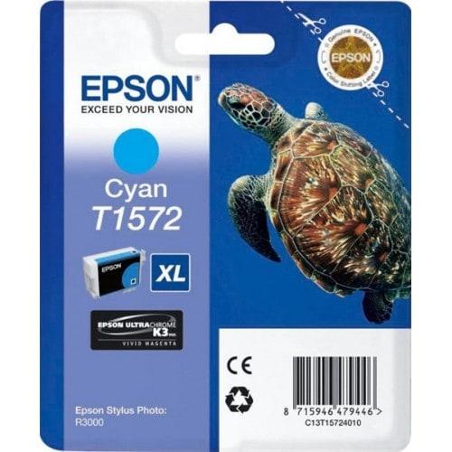 Cartouche d'encre EPSON T1572 Tortue - Cyan