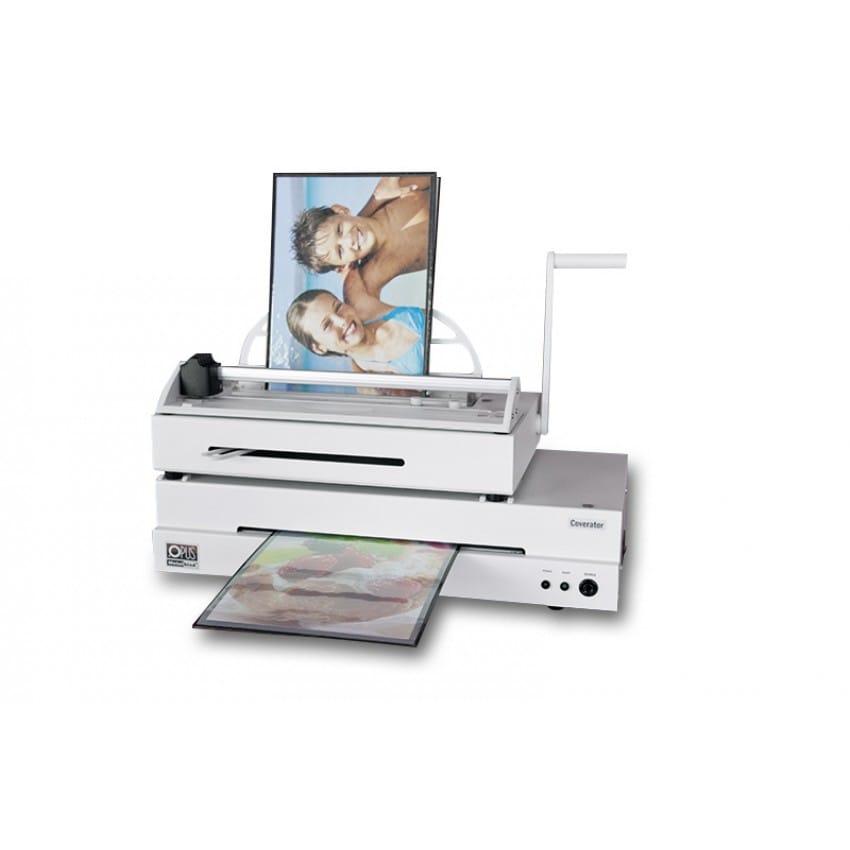 Machine fabrication album OPUS contient le relieur Atlas 190, le massicot Trimmer 320 et le laminateur Coverator 330