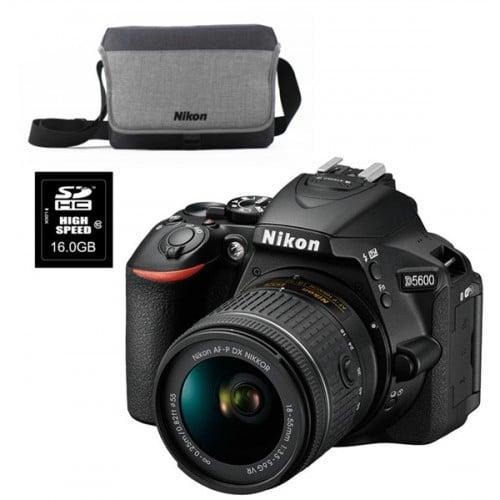 Appareil reflex numérique NIKON Kit D5600 + AF-P DX 18-55mm VR