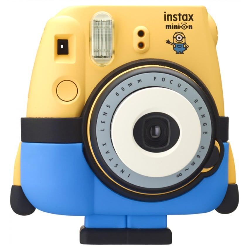 Appareil photo instantané FUJI Instax Mini 8 Minions - Format photo 62x46mm - Livré avec 2 piles LR6 et dragonne