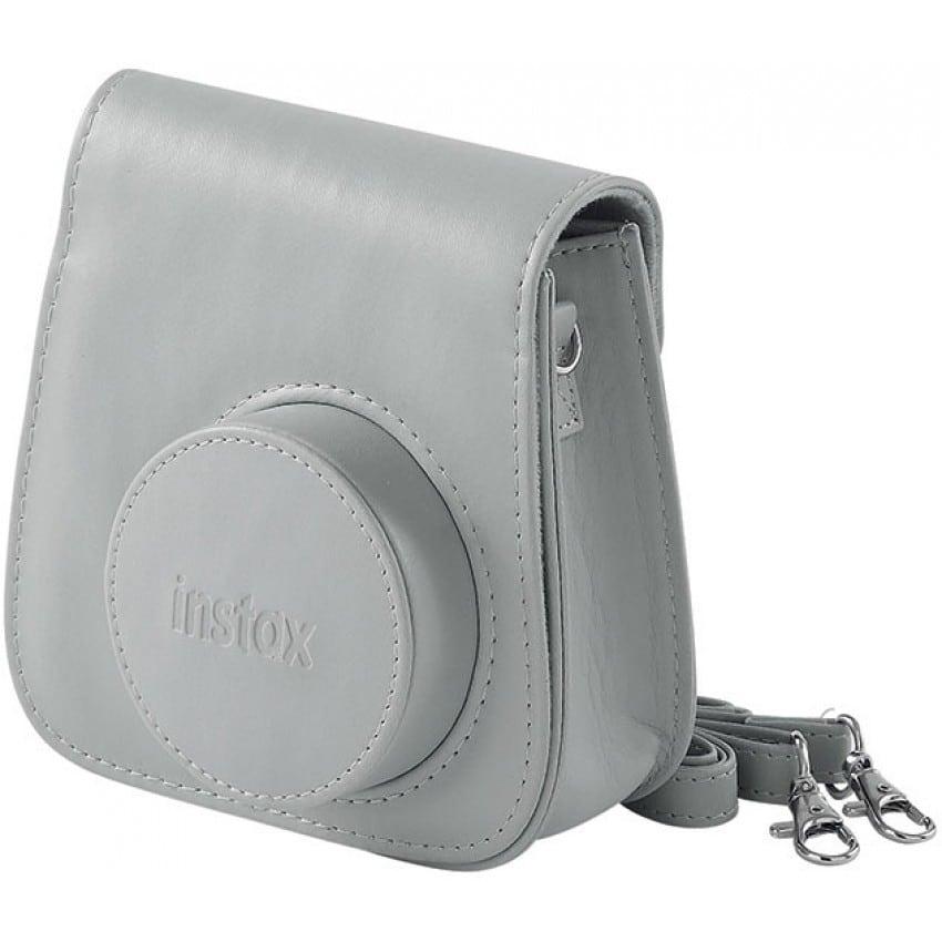Etui appareil photo FUJI Instax mini - Blanc cendré - Pour Instax Mini 9 - convient au Mini 8