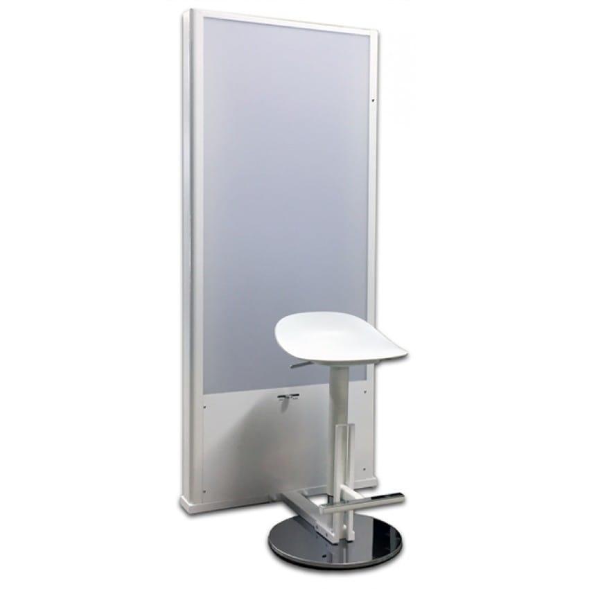 Fond lumineux MB TECH Caisson lumineux pour identité avec siège réglable en hauteur - Flash intégré avec synchro auto - Fond bla
