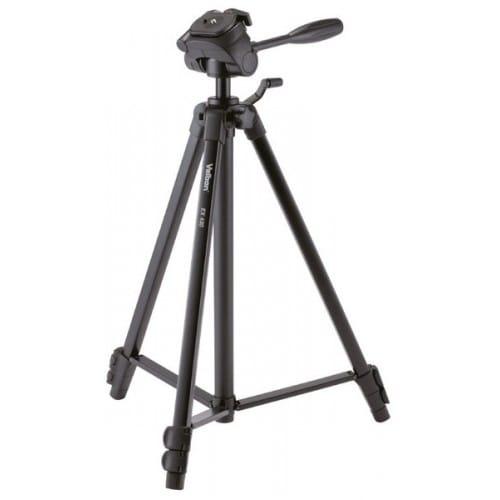 Trépied VELBON EX-430 avec sac - Dimension plié : 56cm - Hauteur maxi : 1,51m - Poids : 1,2kg - Charge totale maxi : 2kg