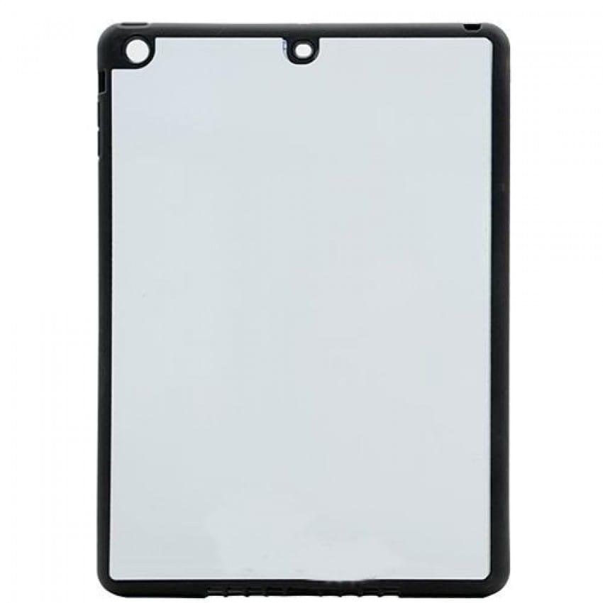 Coque tablette tactile MB TECH 2D iPad Air souple noire avec feuille aluminium