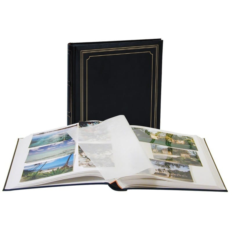 Album photo vierge avec feuillet cristal